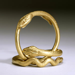Pair of gold snake bracelets, first century A.D. - Walters Art Museum, Baltimore jewellery collection